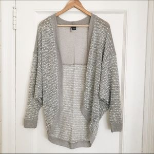 Urban Outfitters Gray Pom Pom Cocoon Cardigan